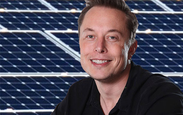 solar panels developed by his SolarCity